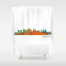 Philadelphia City Skyline Hq V1b Shower Curtain