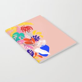 Keep Growing - Tropical plant on peach Notebook