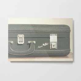 Aero Pak Suitcase - Travel Print Metal Print