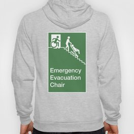 Accessible Means of Egress Icon, Emergency Evacuation Chair Sign Hoody