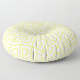 Yellow Diamond Pattern 2 Floor Pillow