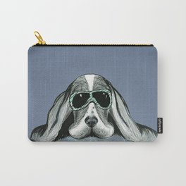 Cool Basset Hound Carry-All Pouch