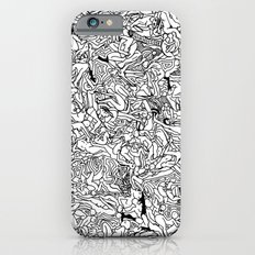 Lots of Bodies Doodle in Black and White Slim Case iPhone 6s
