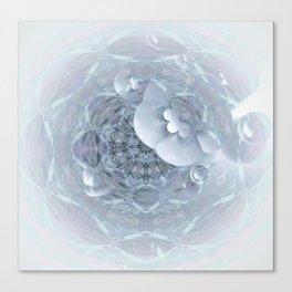 Gothic Wedding Floral Web Mandala Canvas Print