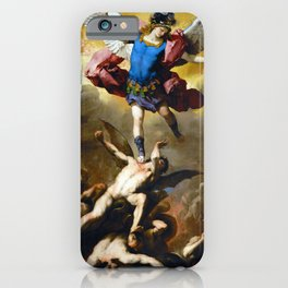 The Fall of the Rebel Angels by Luca Giordano (1666) iPhone Case