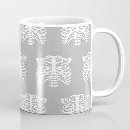 Human Rib Cage Pattern Gray Coffee Mug