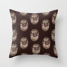 Fingerpug Throw Pillow