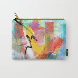 Believe Your Paths no.0 - colorful abstract painting blue modern art Carry-All Pouch