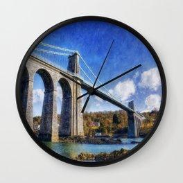Menai Susupension Bridge Wall Clock