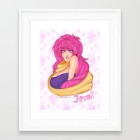 jem Framed Art Prints featuring Jem by Merunyaa (Meru)