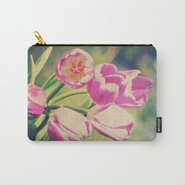 Spring Botanical - Bold Tulips Still Life Carry-All Pouch