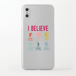In This House We Believe Clear iPhone Case