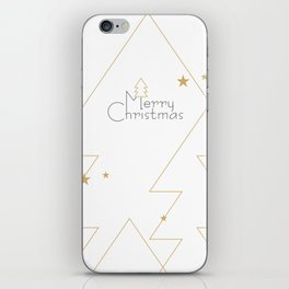 Merry Christmas #society6 #decor #buyart iPhone Skin