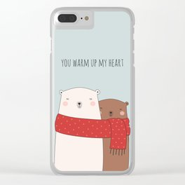 BEAR LOVE Clear iPhone Case