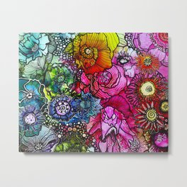 Abstract Floral 2 Metal Print