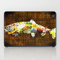 whisky iPad Cases featuring FISH with a side of Bourbon Please by Saundra Myles