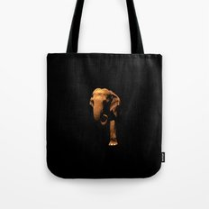 Elephant Emerging from the Dark Tote Bag