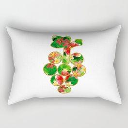 Floral Glitter Grapes Rectangular Pillow