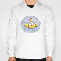 yellow submarine Hoodies featuring Yellow Submarine by Anaïs Rivola