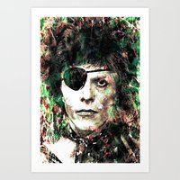 bowie Art Prints featuring BOWIE by Vonis