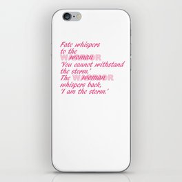 Fate Whispers pink iPhone Skin