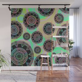 Holographic Floating Mandala Boho Stamp Print Wall Mural