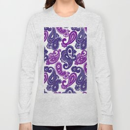 Fun Purple Paisley Long Sleeve T-shirt
