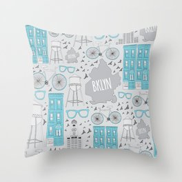 Oh-so Brooklyn Throw Pillow