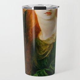 Rossetti, Dante Gabriel - La Ghirlandata-old paiting Travel Mug