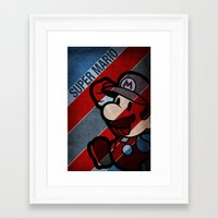 super mario Framed Art Prints featuring SUPER MARIO by sbs' things