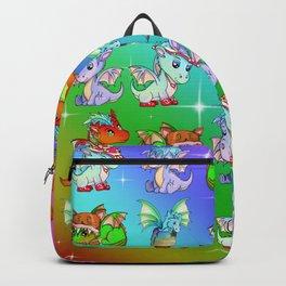 Cute cartoon baby dragons Backpack