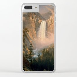 Albert Bierstadt - Yellowstone Falls (1881) Clear iPhone Case