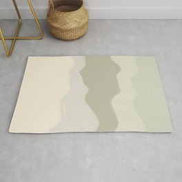 'settle'   peaceful abstract illustration for calm Rug