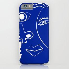 Blue mood portrait iPhone Case