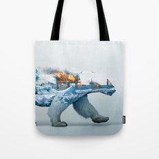 Polar Bear escape Tote Bag