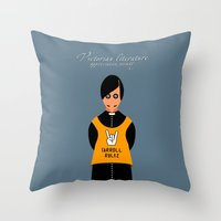 literature Throw Pillows featuring Victorian Literature - Carroll by Natallia Pavaliayeva