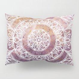 Rings of Light Mandala Pillow Sham