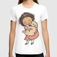 puppies T-shirts featuring I Love Puppies by Katie O'Hagan