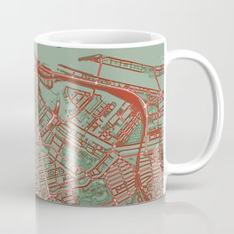 Amsterdam city map pop Coffee Mug