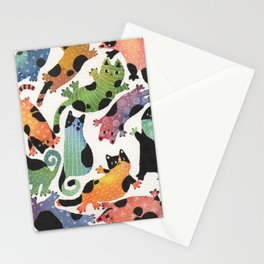 12 cats Stationery Cards