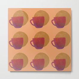 Cups in Sunset Shades Metal Print