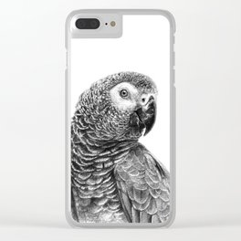 Gray Parot G083 Clear iPhone Case