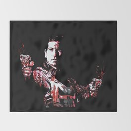 Jon Bernthal's Punisher Portrait pop Throw Blanket