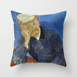 Dr Paul Gachet Throw Pillow