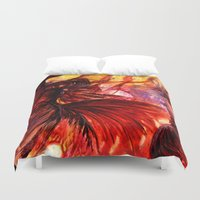 phoenix Duvet Covers featuring Phoenix by Vargamari