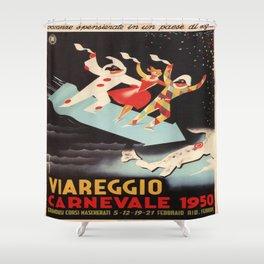 Vintage poster - Viareggio Shower Curtain