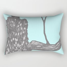 Nut Tree Illustration Rectangular Pillow