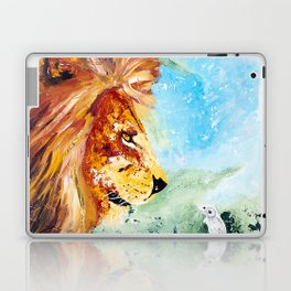 The Lion and the Rat - Animal - by LiliFlore Laptop & iPad Skin