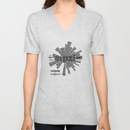 Leipzig Map Unisex V-Neck