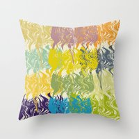 oil Throw Pillows featuring oil by simple